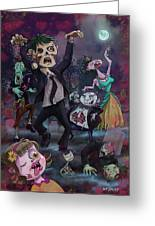 Cartoon Zombie Party Greeting Card