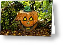 Carved Pumpkin 5 Greeting Card