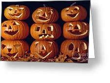 Carved Pumpkins  Greeting Card