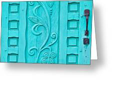 Carved Turquoise Door Photograph By Art Block Collections