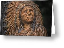 Carved Wooden Indian Greeting Card