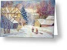 Carversville Snow Greeting Card