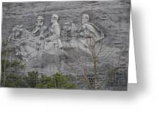 Carving Of Confederate Generals On Stone Mountain Greeting Card