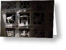 Carvings Of Jainism Greeting Card