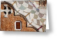 Casa Del Guarda Details In Park Guell Greeting Card