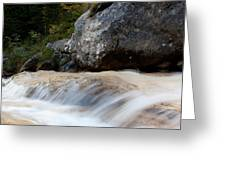 Cascade In The Bavarian Alps Greeting Card