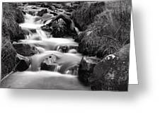 Water Fall In Slow Motion Greeting Card