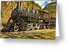 Cascade Mountain Train Greeting Card