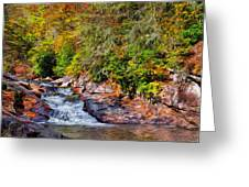 Cascade Of Water Greeting Card