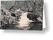 Cascade On Taum Sauk Mountain 2 Greeting Card