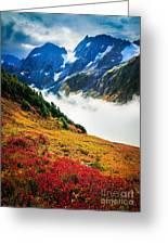 Cascade Pass Peaks Greeting Card