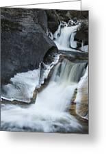 Cascades At Kent Falls Greeting Card