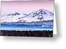 Cascades Central Oregon Greeting Card