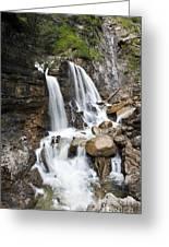 Cascades In Bavaria Greeting Card
