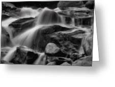 Cascades In Black And White Greeting Card