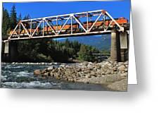 Cascades Rail Bridge Greeting Card