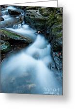 Cascades - Spruce Brook Twilight Greeting Card