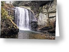 Cascading Into A Pool Greeting Card