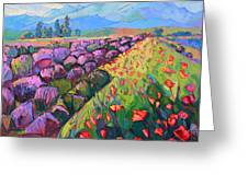 Cascading Lavender Greeting Card by Erin Hanson
