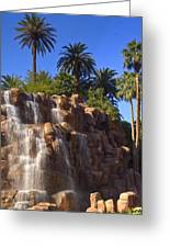 Cascading Rocky Waterfall Greeting Card