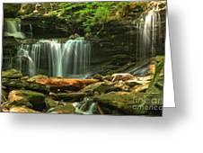 Cascading Through Glen Leigh Greeting Card