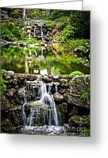 Cascading Waterfall And Pond Greeting Card by Elena Elisseeva