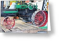 Case Steam Tractor Greeting Card