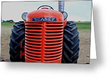 Case Tractor Grille Greeting Card