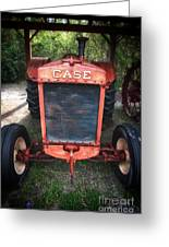 Case Tractor Greeting Card by John Rizzuto