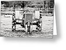 Case Tractor - Bw Greeting Card