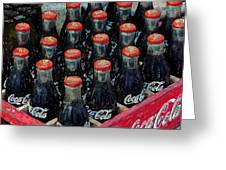 Classic Case Of Coca Cola Greeting Card