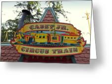 Casey Jr Circus Train Fantasyland Signage Disneyland Greeting Card