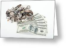 Cash For Sterling Silver Scrap Greeting Card