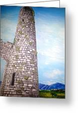 Cashel Tower Ireland Greeting Card