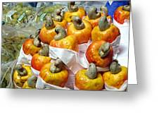 Cashew Fruit - Mercade Municipal Greeting Card