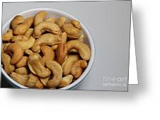 Cashews - Nuts - Snack Food Greeting Card