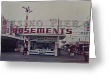 Casino Pier Amusements Seaside Heights Nj Greeting Card