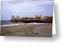 Casino Pier Boardwalk - Seaside Heights Nj Greeting Card by Glenn Feron