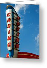 Casino Sign Greeting Card
