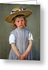 Cassatt's Child In A Straw Hat Greeting Card
