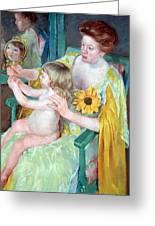 Cassatt's Mother And Child Greeting Card
