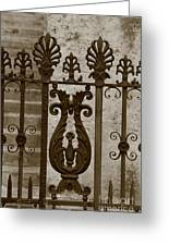 Cast Iron Fence Greeting Card