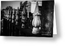 Cast Iron Spearheads Noir Greeting Card