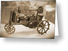 Cast Iron Toys Greeting Card