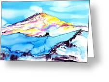 Caste Rock Antarctica Greeting Card by Carolyn Doe