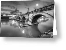 Castel Sant' Angelo Bw Greeting Card