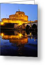 Castel Sant'angelo And The Tiber River Greeting Card