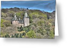 Castell Coch Cardiff Painterly Greeting Card