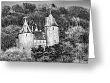 Castell Coch Mono Greeting Card