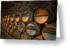 Castello Di Amorosa Of California Wine Barrels Greeting Card
